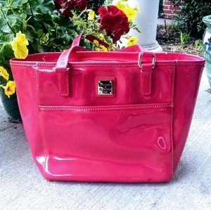 Dooney & Bourke Pink Patent Leather Tote Handbag